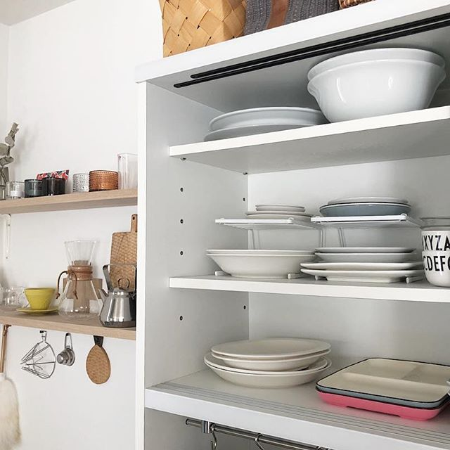 マイルールを敷いた食器の収納方法