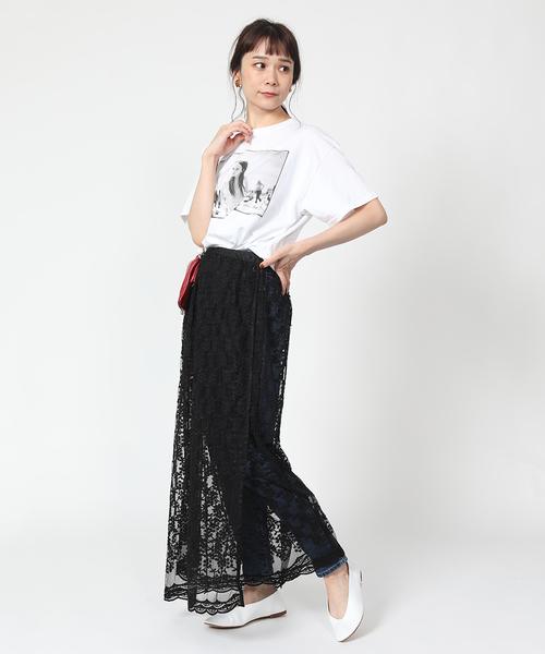 [FREAK'S STORE] チュール刺繍巻きスカート