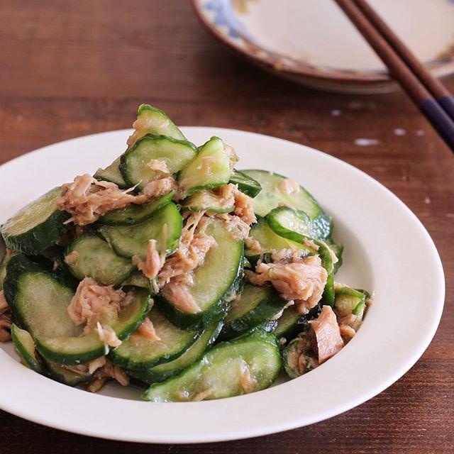 人気の中華風おかず!鶏ガラポン酢できゅうり漬け
