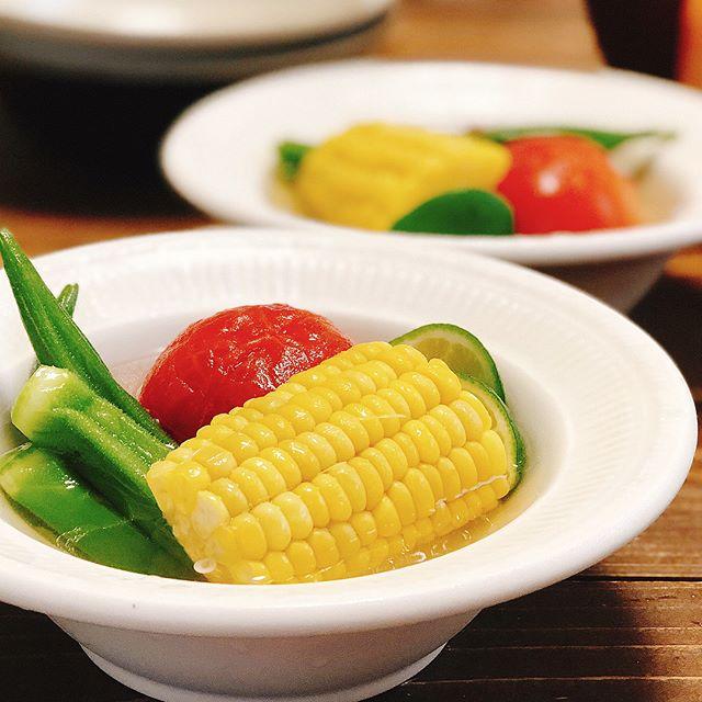 美味しい簡単なレシピ!夏野菜のだし浸し