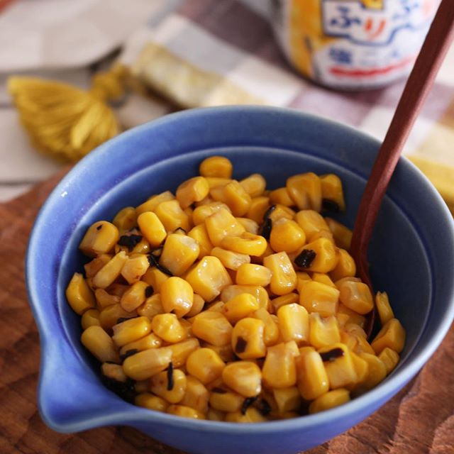 美味しい簡単なレシピ!ガリバタ塩昆布コーン