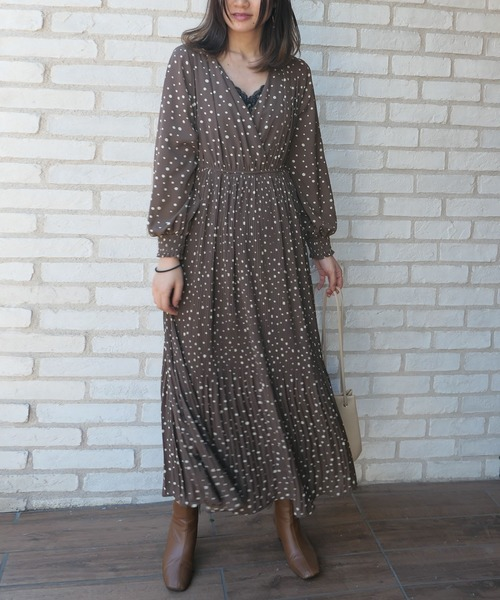 大人女性の秋の旅行コーデ《ワンピース》7