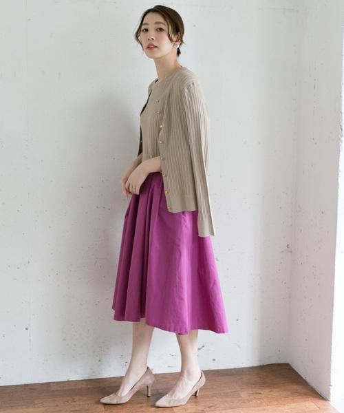 [URBAN RESEARCH ROSSO WOMEN] ランダムタックフレアースカート