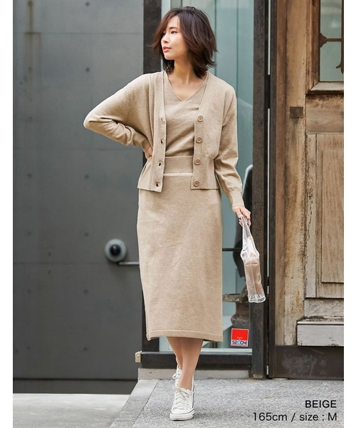 [Re:EDIT] 天竺編みストレッチニットタイトスカート