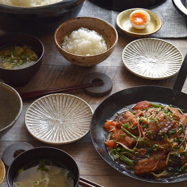 さんまの竜田揚げ野菜ソース