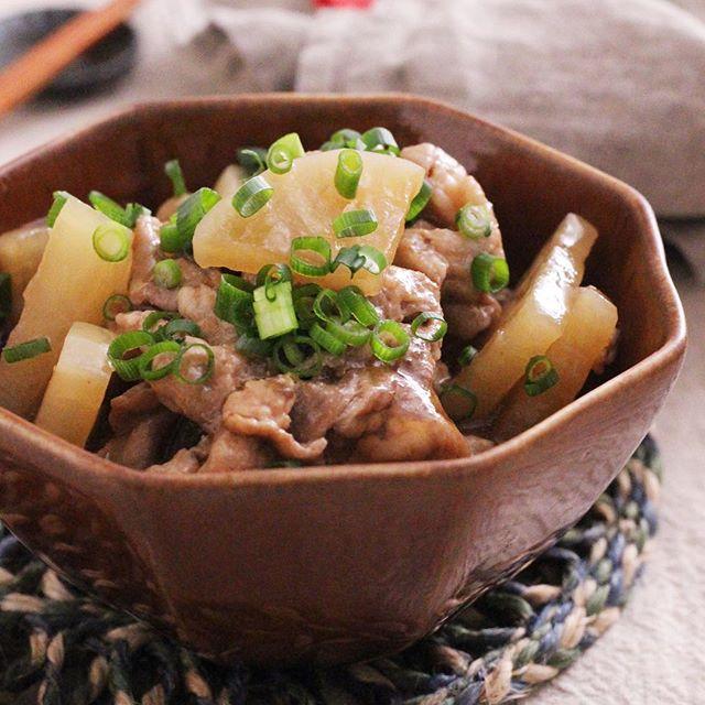 お弁当に!豚こまと大根のうま生姜のとろみ煮