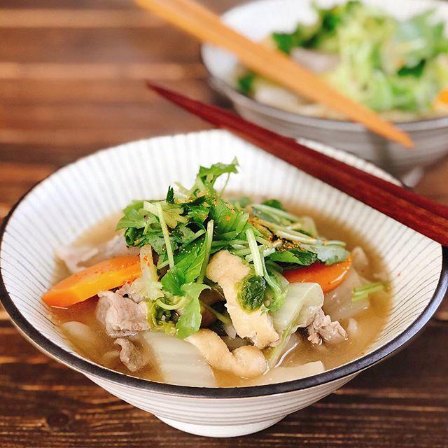 和食にはこれ!人気の野菜とほうとう煮込み