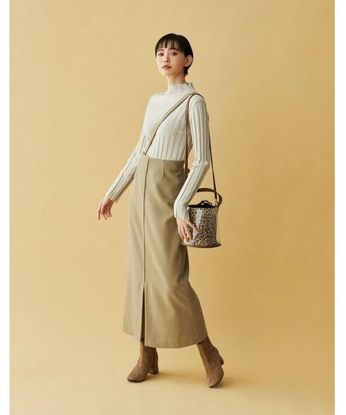 [aquagirl] ワンサスウールタイトスカート