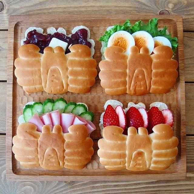 幼稚園の簡単なお弁当!可愛いカニパンサンド