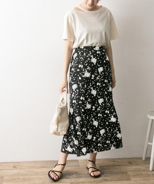 [URBAN RESEARCH] 花柄マーメイドスカート