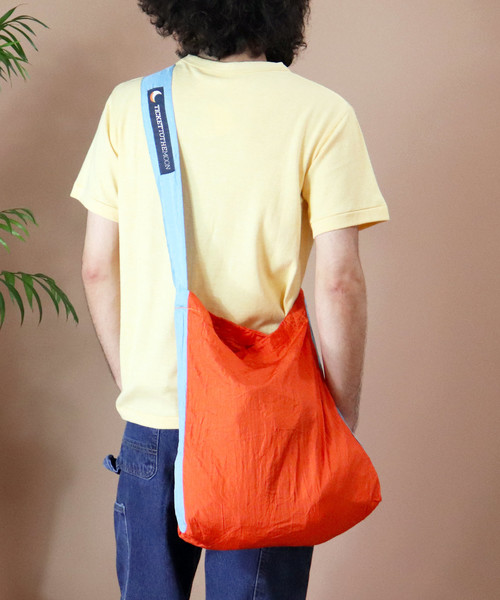 [THE BAREFOOT] 【TICKET TO THE MOON/チケットトゥザムーン】パラシュートエコマーケットバッグ TM-BAG CUR