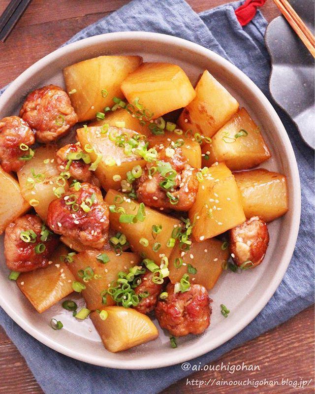 人気レシピ!豚こま団子と大根のオイスター中華煮