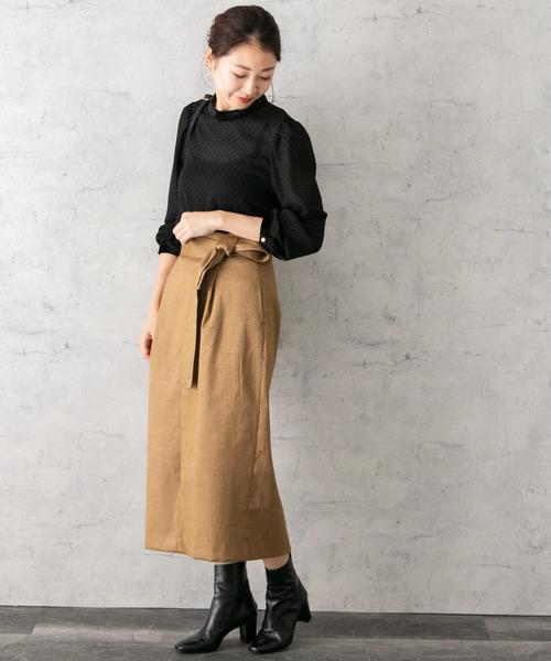 [URBAN RESEARCH ROSSO WOMEN] 【Oggi掲載】ヘリンボーンタイトスカート