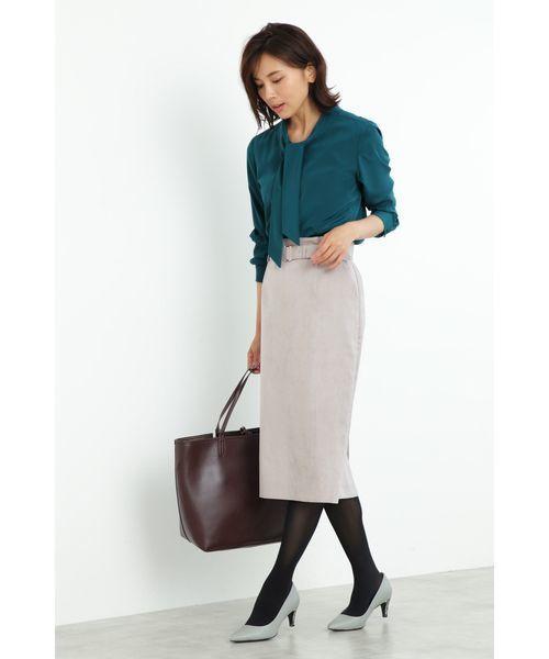 [BOSCH] フェイクスエードタイトスカート