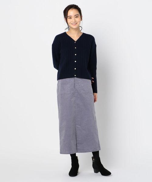 [FREDY&GLOSTER] コーデュロイロングスカート