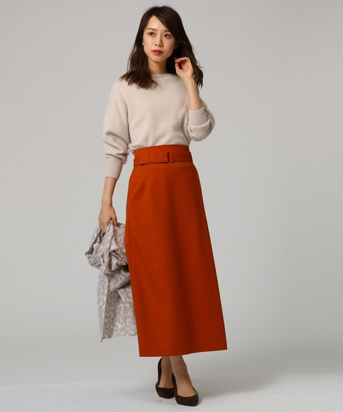 [UNTITLED] ツイルベルテッドタイトスカート
