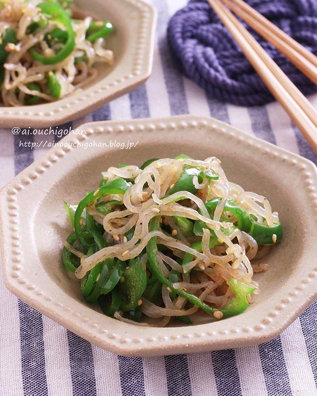 ピーマンの簡単な中華風レシピ☆お弁当