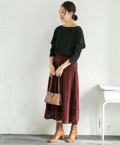 [URBAN RESEARCH ROSSO WOMEN] フラワーレースモールスカート2