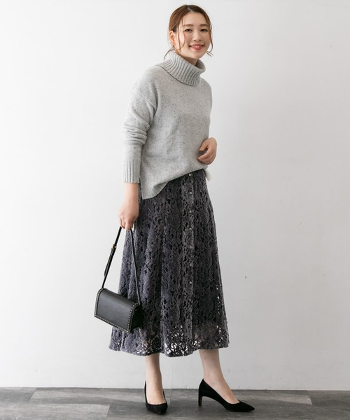 [URBAN RESEARCH ROSSO WOMEN] フラワーレースモールスカート