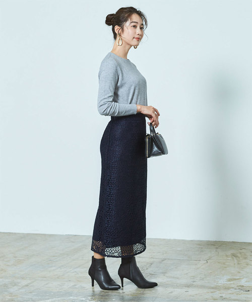 [ur's] レースセミタイトスカート