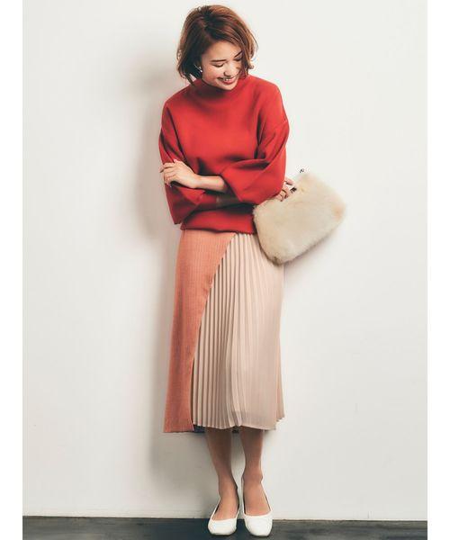[LAGUNAMOON] 【COLLABORATION】LADYヘリンボーンスカート