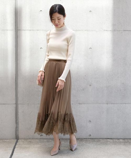 [STRAWBERRY-FIELDS] DVアンロベチュール スカート
