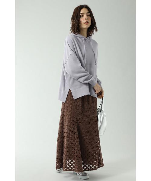 [ROSE BUD] 透かしナロースカート2