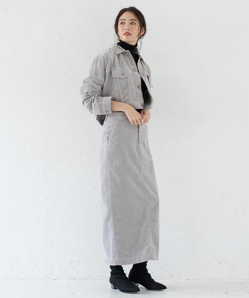 [Loungedress] 【YANUK】コーデュロイスカート