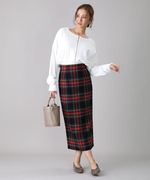 ファッショントップス×ロングタイトスカート
