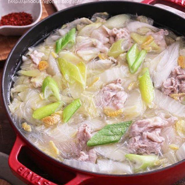 人気の和食に!白菜と春雨入り柚子塩鍋