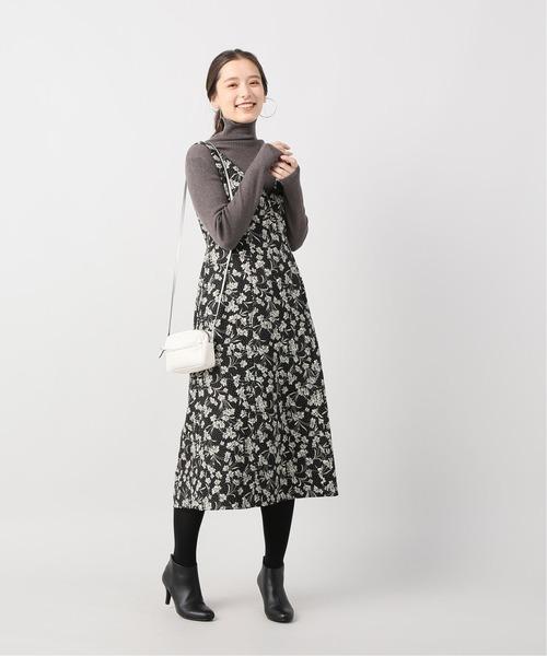 [La TOTALITE] レトロフラワープリントジャンパードレス