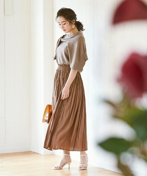 スカートを使ったおすすめのワントーンコーデ2