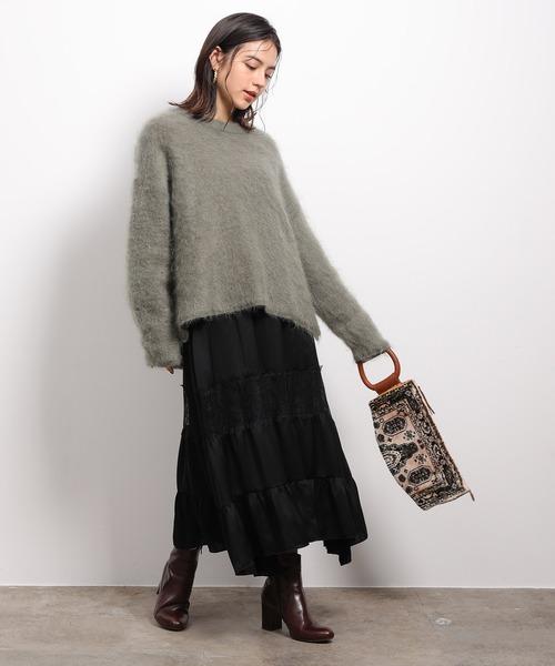[ROPE'] ラインレースギャザースカート[ROPE'] ラインレースギャザースカート