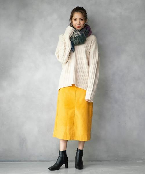 [210nouve] コーデュロイタイトスカート