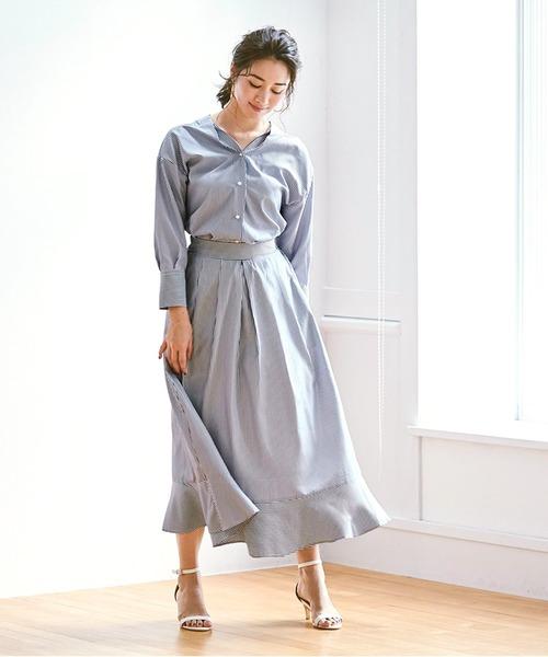 スカートを使ったおすすめのワントーンコーデ