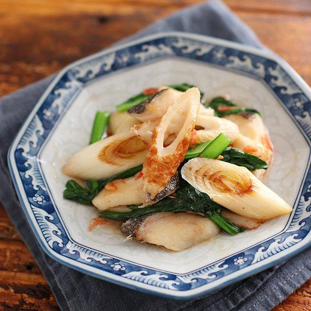 人気の魚でお弁当!簡単タラとちくわの中華炒め