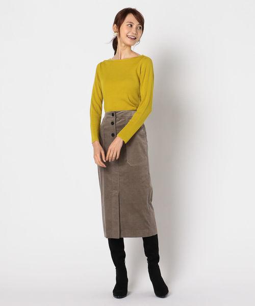 [NOLLEY'S] コーデュロイタイトスカート