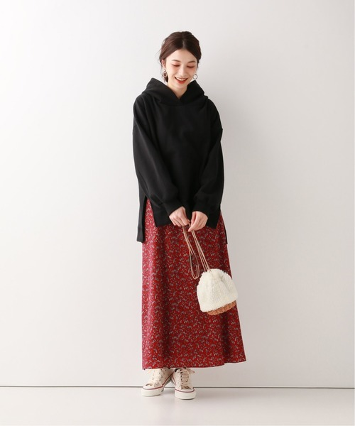[IENA] 【 CLASSY. Closet×SLOBE 】アンティークプリントフレアスカート