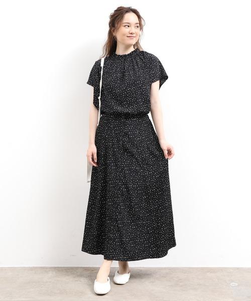 [ViS] 【WEB限定】【セットアップ対応】アソートフロントボタンスカート