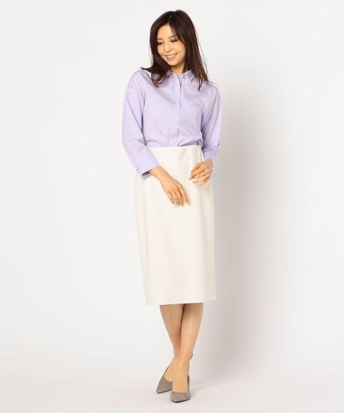 [NOLLEY'S] 【Oggi 5月号掲載】パール釦2WAYシャツ