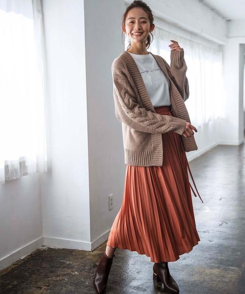 [GeeRA] 【WEB限定】アシメランダムプリーツスカート