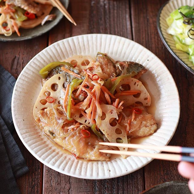 美味しい魚!お弁当にあじと野菜の南蛮漬け