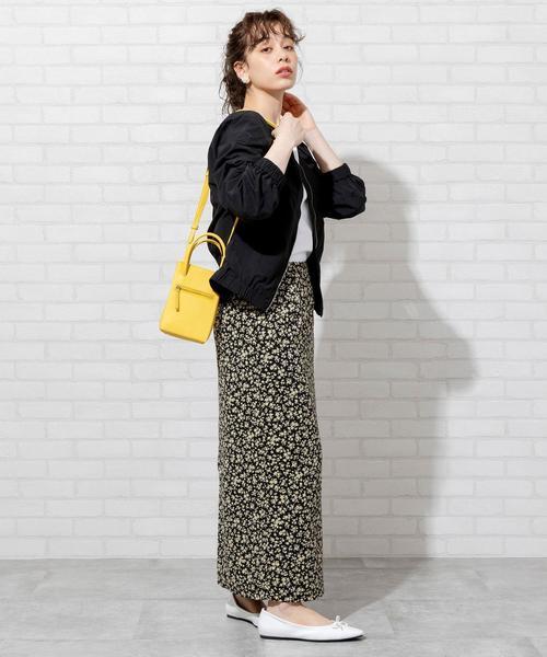 [coen] 【WEB限定】プリントタイトスカート(ドット柄/小花柄)#