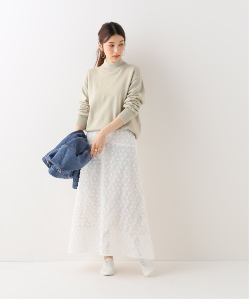 [IENA] 3Dレーススカート◆