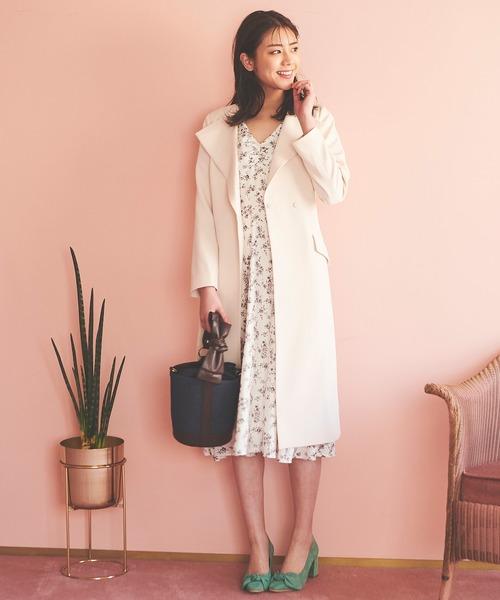 [31 Sons de mode] 《美人百花3月号/泉里香さん着用アイテム》フラワープリントワンピース