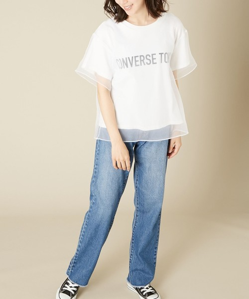 [CONVERSE TOKYO] レイヤードオーガンジーTシャツ