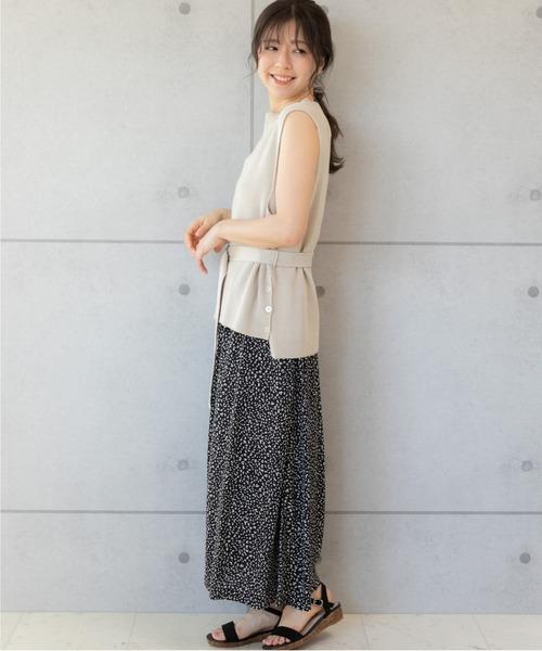 [PREFERIR] レオパード ロングスカート【フジテレビ・めざましテレビ番組着用】