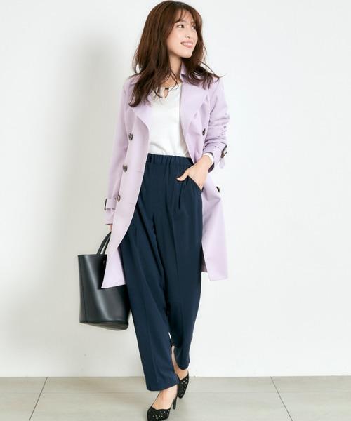 [MEW'S REFINED CLOTHES] スプリングコート 撥水・防花粉ベーシックトレンチ