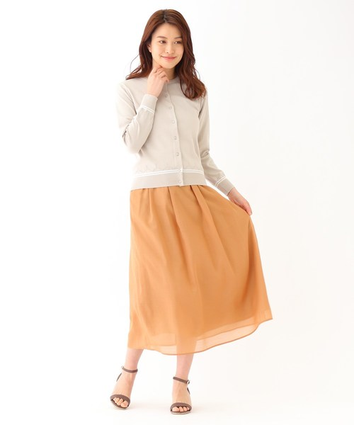 [WORLD ONLINE STORE SELECT] 【洗える】アンブライトボイルマキシスカート