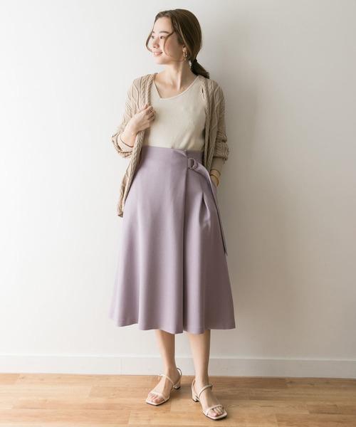 [URBAN RESEARCH] サイドDカン付タックフレアスカート